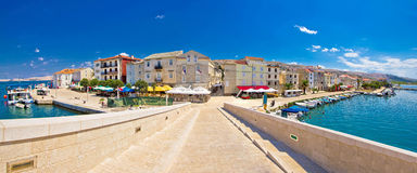 Island town of Pag panorama Royalty Free Stock Images