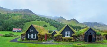Island traditionshus arkivfoto