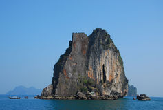 Island mountain in Trang Thailand Royalty Free Stock Photography