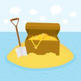 Island treasures vector illustration Royalty Free Stock Image