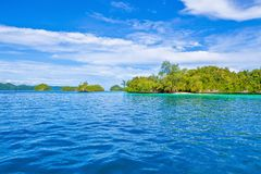 Island trip to turquoise waters at Palau. During daytime royalty free stock photography