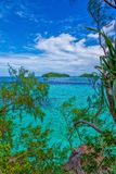 Island trip to turquoise waters at Palau. During daytime stock images