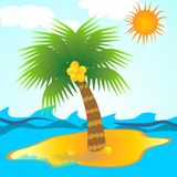 Island in tropical sea Royalty Free Stock Photos