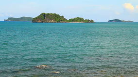 Island tropical sea with blue sky. Chumphon Thailand stock footage