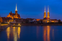 Island Tumsk, Wroclaw, Poland Stock Images