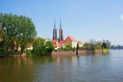 Island Tumski, Wroclaw, Poland Stock Image