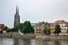 Island Tumski in Wroclaw, Poland Royalty Free Stock Image