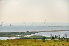 The Island Of Tuzla. The Kerch Strait. Black sea. Royalty Free Stock Images