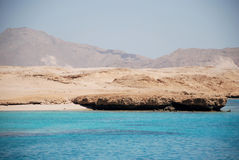 Island the Tyrant. Red sea Stock Photography