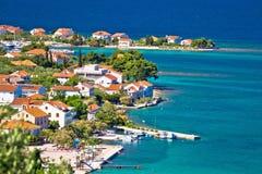 Island of Ugljan scenic coast and beach Royalty Free Stock Image