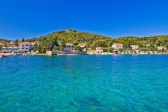 Island of Ugljan turquoise coast Stock Image