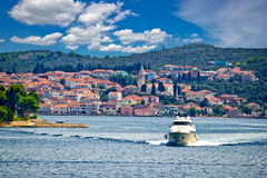 Island of Ugljan yachting destination Stock Images