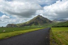 Island väglandskap Royaltyfria Foton