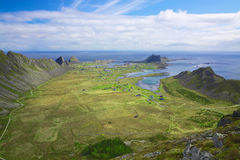 Island Vaeroy in Norway. Scenic island of Vaeroy on Lofoten islands in Norway Royalty Free Stock Photo