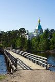 Island Valaam, Spaso-Preobrazhensky monastery Stock Image