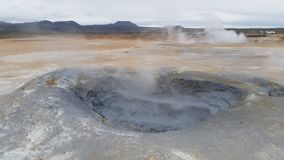 Island varm gyttjavulkan Royaltyfria Bilder