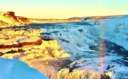 Island vattenfall Royaltyfria Foton