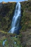 Island - vattenfall - lång exponering Royaltyfri Foto