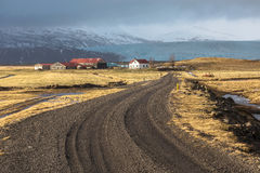 Island, Vestrahorn-Berg Stockfotografie