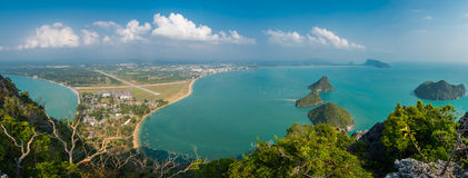 Island View of Ao Manao bay in Prachuap Khiri Khan Royalty Free Stock Images