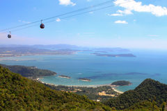 Island view from mountain. View in Malaysia, Langkawi Royalty Free Stock Photos
