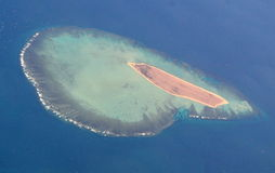 Island View From Plane Stock Photography