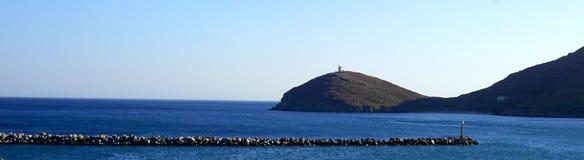 Island view in Sea Stock Photo