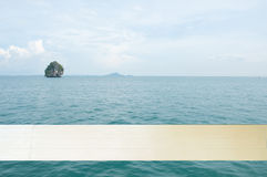 Island view tropical beach, andaman sea,Krabi Province Thailand Royalty Free Stock Photos