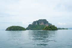 Island view tropical beach, andaman sea,Krabi Province Thailand Royalty Free Stock Photography