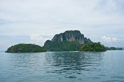 Island view tropical beach, andaman sea,Krabi Province Thailand Stock Images