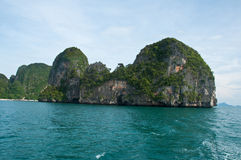 Island view tropical beach, andaman sea,Krabi  Thailand Royalty Free Stock Photos