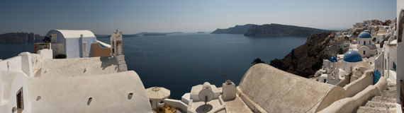 Island views of Santorini Royalty Free Stock Images