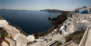 Island views of Santorini Stock Photography