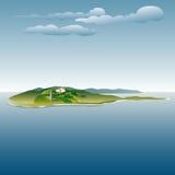 Island villa Stock Photography