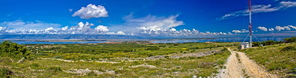 Island of Vir panoramic view Royalty Free Stock Photo
