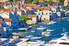Island of Vis pictoresque village coast view. Dalmatia, Croatia Royalty Free Stock Photos
