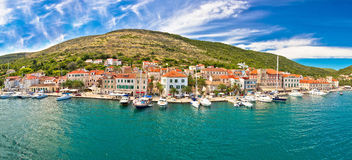 Island of Vis seafront panorama Royalty Free Stock Photo