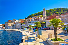 Island of Vis yachting waterfront view. Dalmatia, Croatia Royalty Free Stock Photo