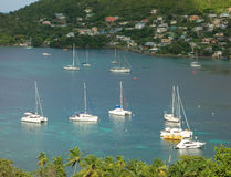 Island visitors moored at port elizabeth, bequia Stock Photography