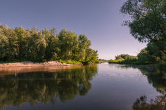 Island on the Vistula river Royalty Free Stock Image