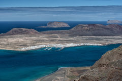 Island of volcanoes, aerial view, Lanzarote Royalty Free Stock Photos