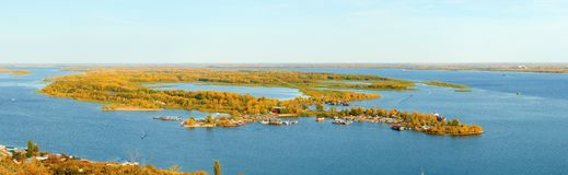Island on the Volga Royalty Free Stock Image