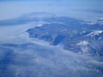 Island von oben Lizenzfreies Stockfoto