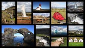 Island vykort fotografering för bildbyråer