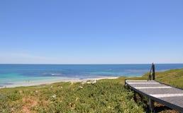 Island Walkway over Turquoise Waters Stock Images