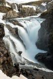 Island-Wasserfälle Lizenzfreie Stockfotos