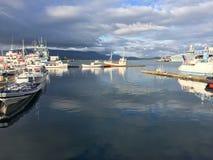 Island-Wasserhafen Lizenzfreies Stockfoto