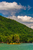 Island in Watauga Lake,  Cherokee National Forest, Tennessee. Stock Photo