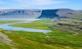 Island westfjords Fotografering för Bildbyråer