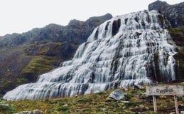 Island, westfjords und Land des Eises und des Feuers! Dynjandi stockfotos